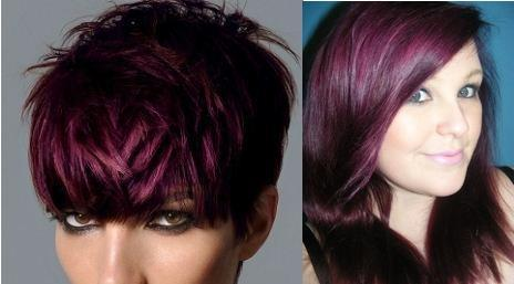 Purple hair color trends for winter 2011 2012